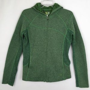 Mountain Hardwear Sweaters - Mountain Hardwear Full Zip Hooded Wool Sweater